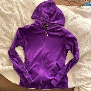 velour tracksuit zip up hoodie